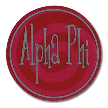 Circle Bumper Sticker - Alpha Phi