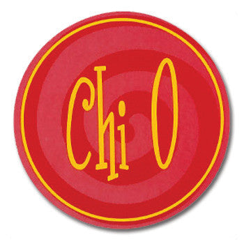 Circle Bumper Sticker - Chi Omega