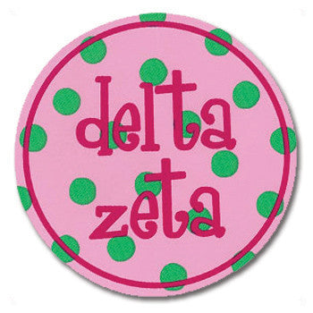 Circle Bumper Sticker - Delta Zeta