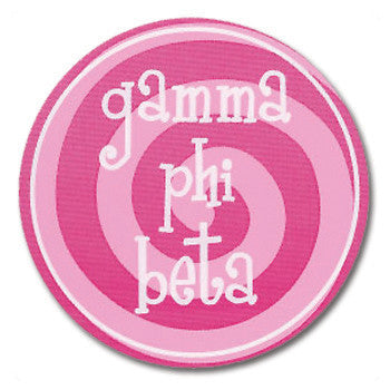 Circle Bumper Sticker - Gamma Phi Beta