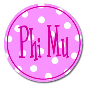 Circle Bumper Sticker - Phi Mu
