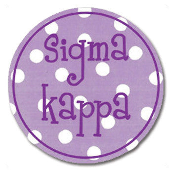 Circle Bumper Sticker - Sigma Kappa