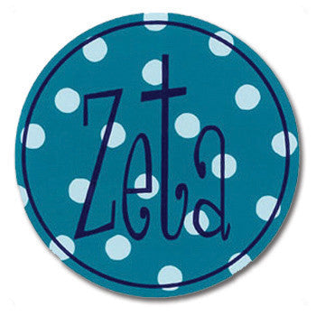 Circle Bumper Sticker - Zeta Tau Alpha