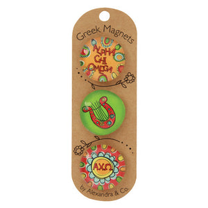 Greek Magnet Set - Alpha Chi Omega
