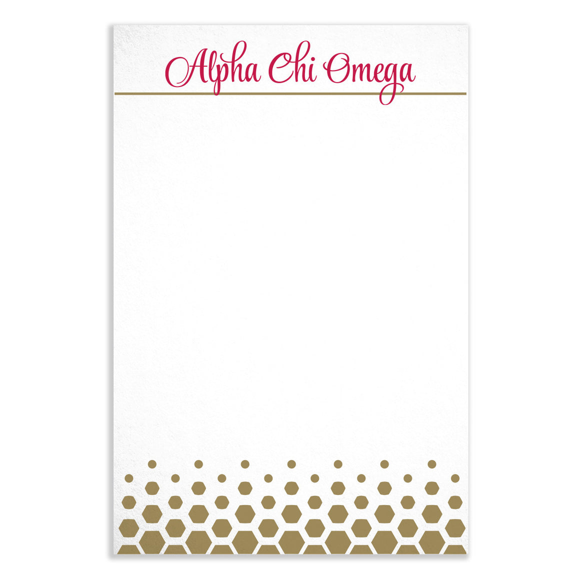 Gold Dot Notepad - Alpha Chi Omega