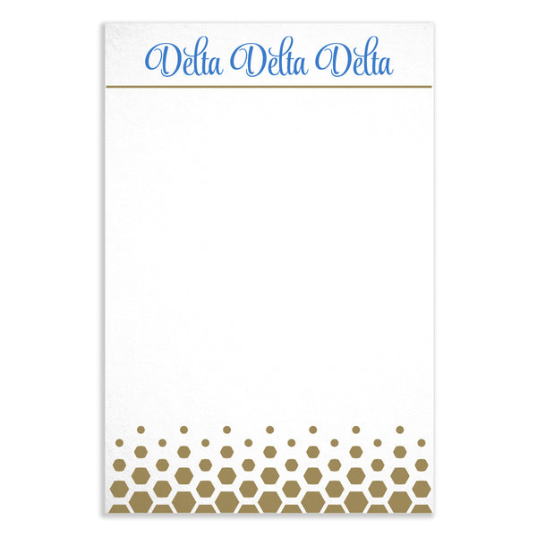 Gold Dot Notepad - Delta Delta Delta