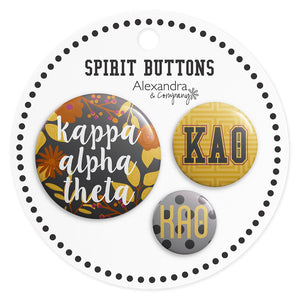 Button Set - Kappa Alpha Theta