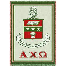 Limited Edition Afghan Blanket - Alpha Chi Omega