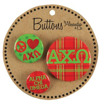 Button Set - Alpha Chi Omega