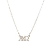 Dogeared Silver Letter Necklace - Alpha Chi Omega