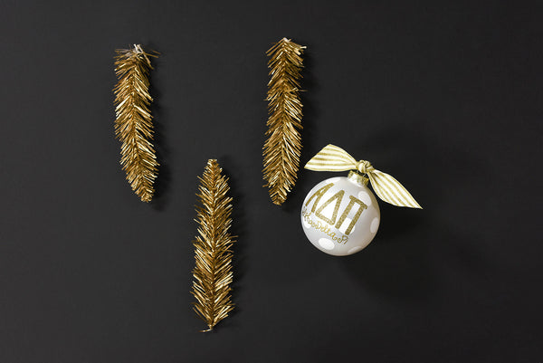 Gold and White Ornament - Alpha Delta Pi