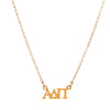 Dogeared Gold Letter Necklace - Alpha Delta Pi