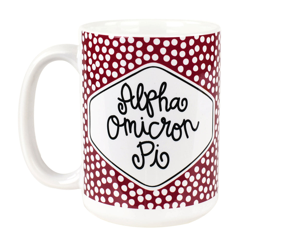 Small Dot Mug - Alpha Omicron Pi