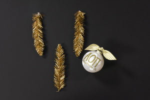Gold and White Ornament - Alpha Omicron Pi