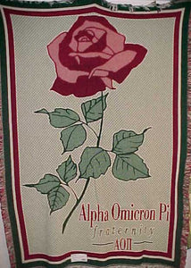 Limited Edition Afghan Blanket - Alpha Omicron Pi