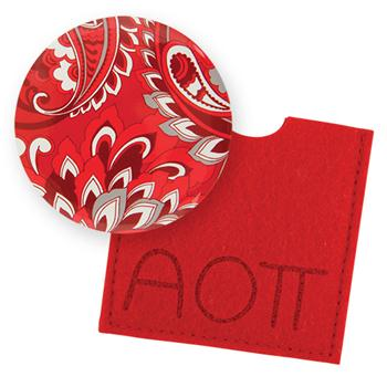 Button Mirror - Alpha Omicron Pi