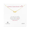 Dogeared Gold Letter Necklace - Alpha Omicron Pi