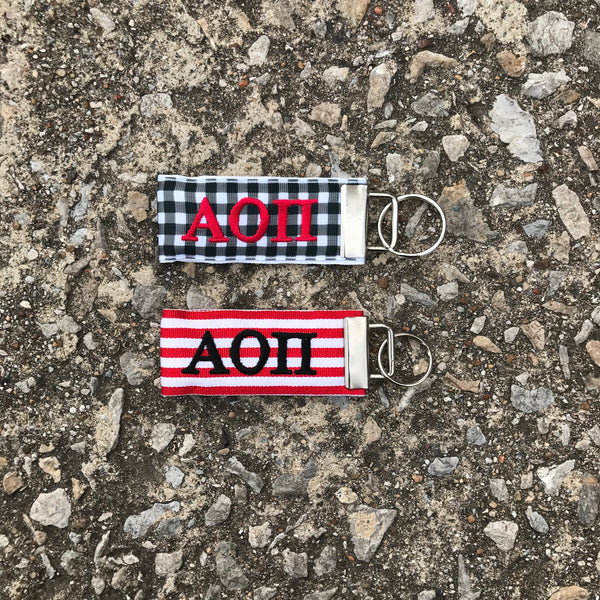 Ribbon Key Fob - Alpha Omicron Pi