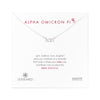 Dogeared Silver Letter Necklace - Alpha Omicron Pi