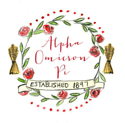 Crest Decal - Alpha Omicron Pi