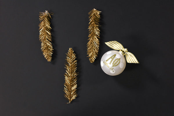 Gold and White Ornament - Alpha Phi
