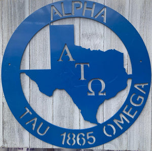 Metal Texas Wall Decor - Alpha Tau Omega
