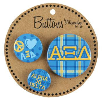Button Set - Alpha Xi Delta