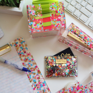 All Bizness Confetti Card Holder