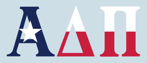 Alpha Delta Pi - Texas Flag Decal