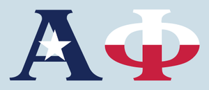 Alpha Phi - Texas Flag Decal