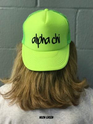 Highlighter Baseball Hats - Alpha Chi Omega