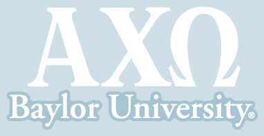 Alpha Chi Omega / Baylor University - Car Decal