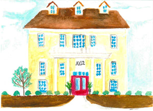 Sorority House Notecards - Alpha Chi Omega