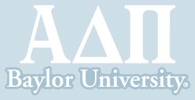 Alpha Delta Pi / Baylor University - Car Decal