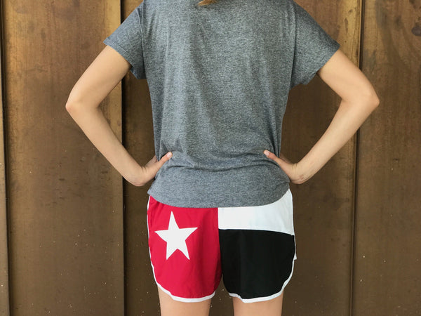 Texas Flag Sorority Shorts - Alpha Omicron Pi