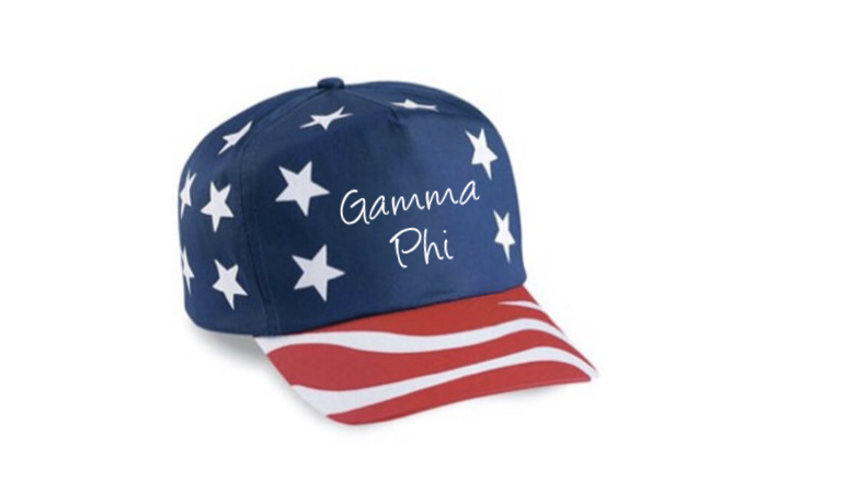 American Flag Hat - Gamma Phi Beta
