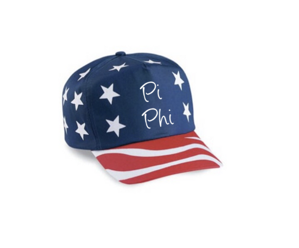 American Flag Hat - Pi Beta Phi