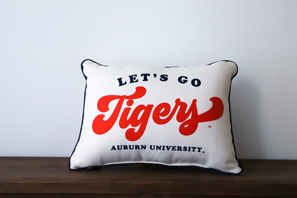 Let's Go Tigers Pillow (Auburn)