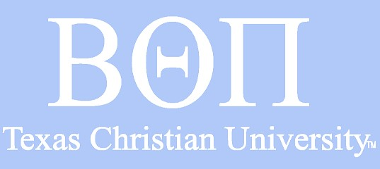 White TCU Car Decal - Beta Theta Pi