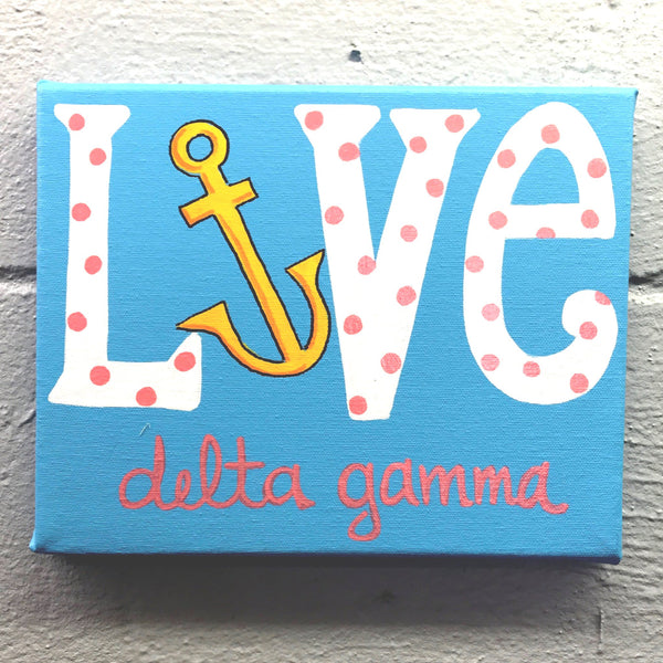 Love Painted Canvas - Delta Gamma