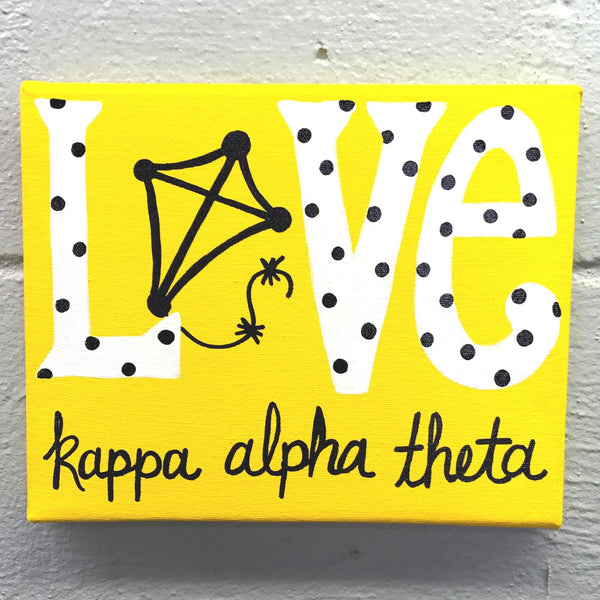 Love Painted Canvas - Kappa Alpha Theta