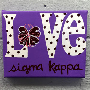 Love Painted Canvas - Sigma Kappa