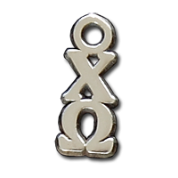 Small Vertical Letter Drop - Chi Omega