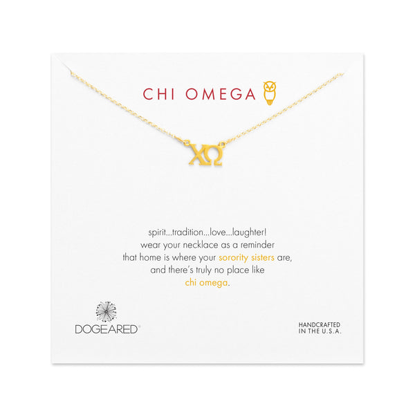 Dogeared Gold Letter Necklace - Chi Omega