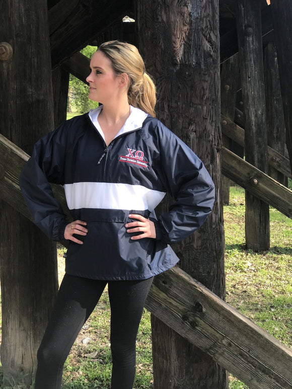 Charles River Rain Jacket - Chi Omega - Texas Christian University