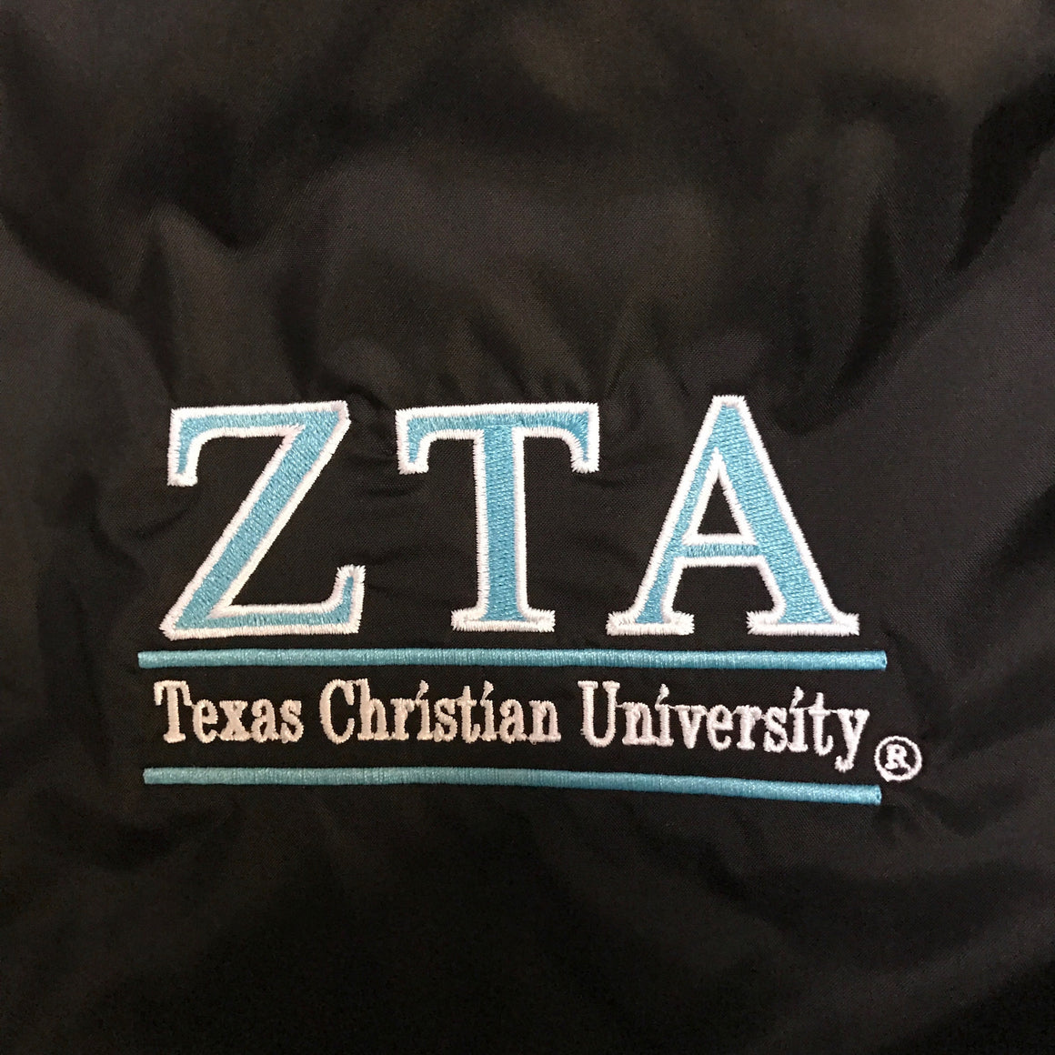 Charles River Rain Jacket - Zeta Tau Alpha - Texas Christian University