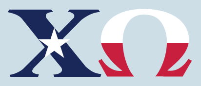 Chi Omega - Texas Flag Decal