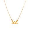 Dogeared Gold Letter Necklace - Delta Delta Delta