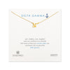 Dogeared Gold Letter Necklace - Delta Gamma