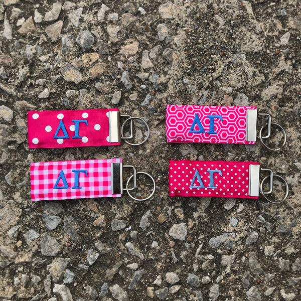 Ribbon Key Fob - Delta Gamma